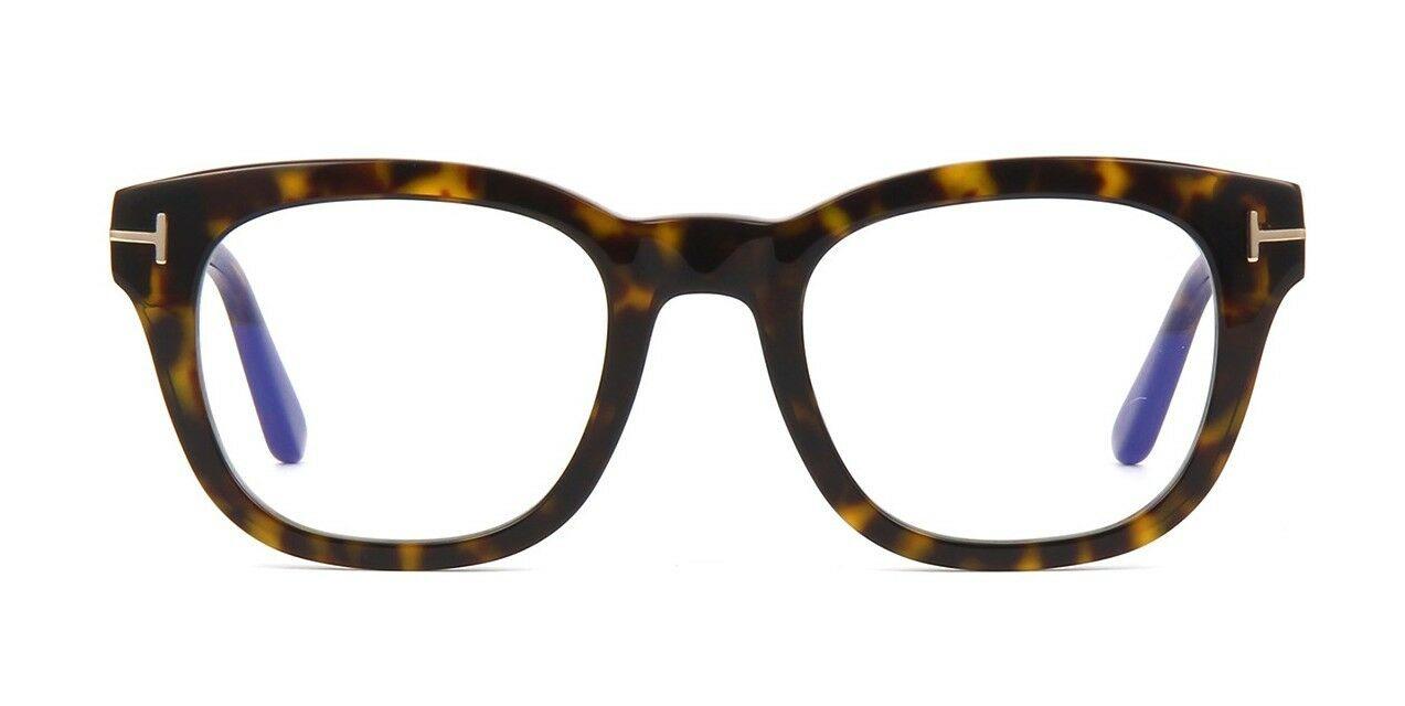 Tom Ford - Occhiale da Vista Uomo, BLUE BLOCK, Dark Havana  FT5542-B  (052)  C50