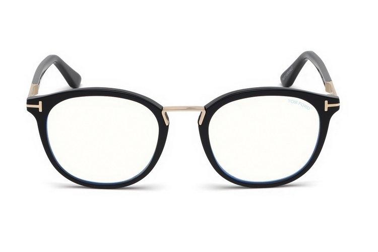 Tom Ford - Occhiale da Vista Unisex, BLUE BLOCK, Matte Black  FT5555-B  (001)  C51