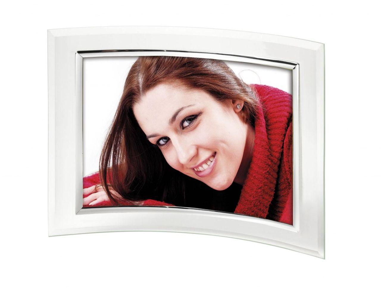 Portafoto in vetro concavo 9x13cm cm.9x13x2h