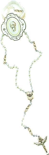 Corona rosario degli sposi in scatoletta metallo