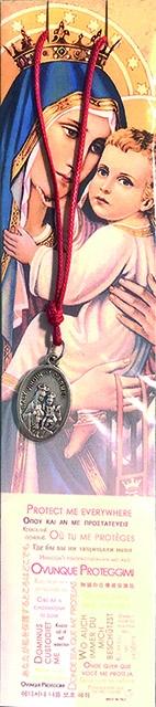 Confezione Medaglia Madonna del Carmelo con laccio