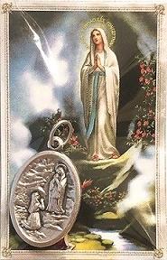 Confezione Medaglia Madonna di Lourdes