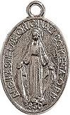 Medaglia Madonna Miracolosa metallo argentato piccola