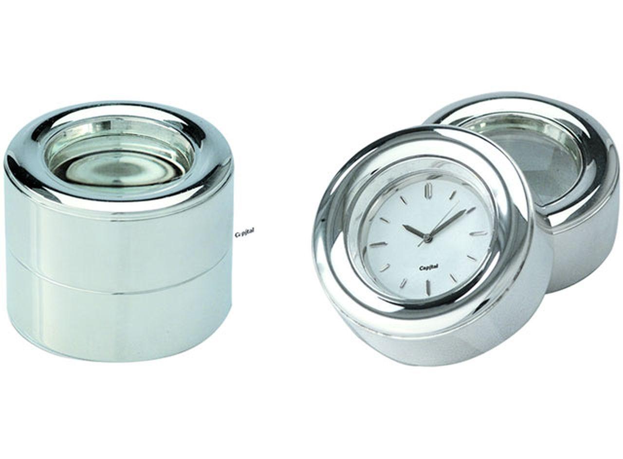 Orologio con lente silver plated