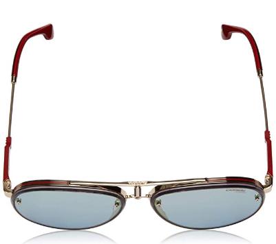Carrera - Occhiale da Sole Uomo, GLORY LIMITED EDITION, Matte Gold-Red/Blue Shaded  LKS 2Y  C58