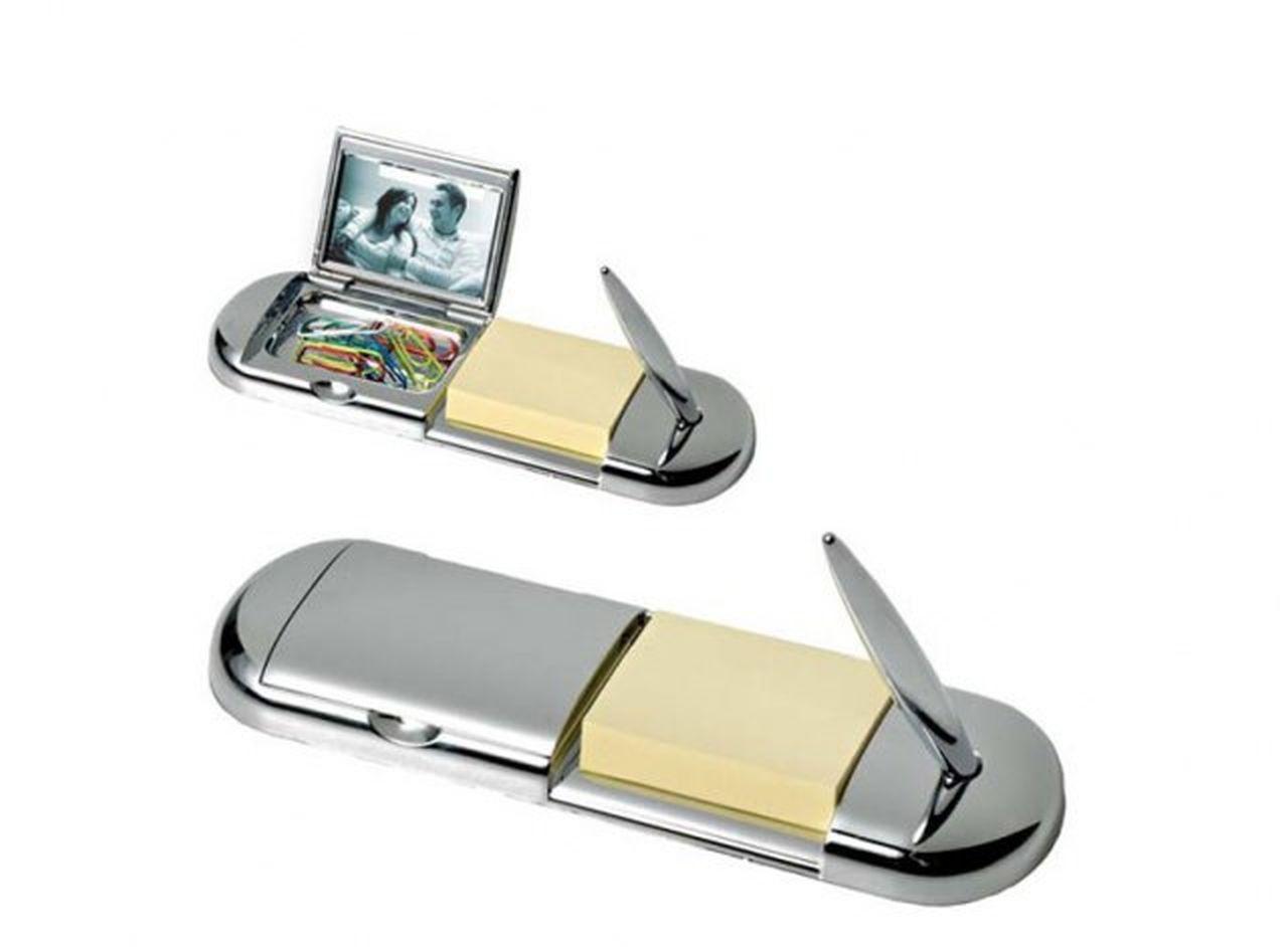 Stiloforo portafoto porta clip in silver plated cm.17x5,5x4h