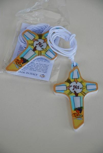 FINE SERIE 3 pezzi - Croce con simboli Comunione