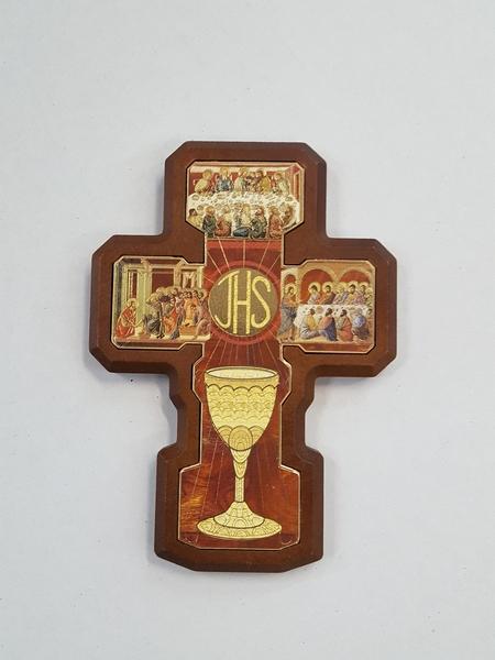 FINE SERIE 8 pezzi - Croce con simboli Comunione