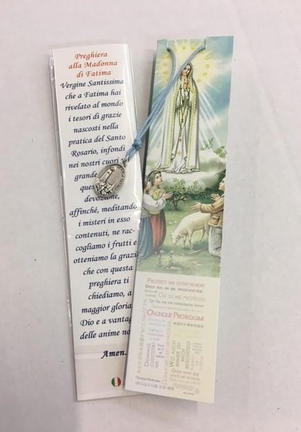 Confezione Medaglia Madonna di Fatima con laccio