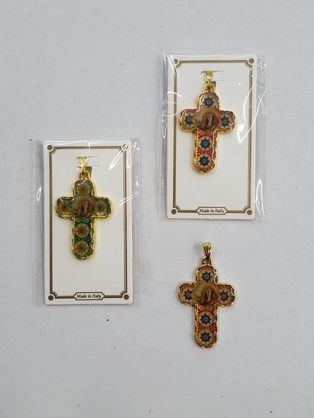 Crocefisso dorato Madonna di Lourdes