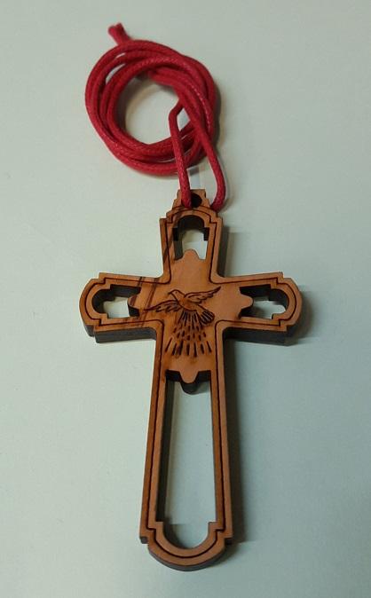 FINE SERIE 20 pezzi - Croce Cresima in ulivo con cordoncino