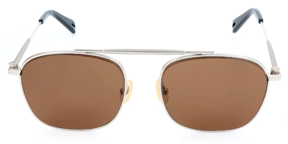 G-STAR RAW - Occhiale da Sole Uomo, METAL HOYM, Silver/Brown Shaded  GS119S 045 C54