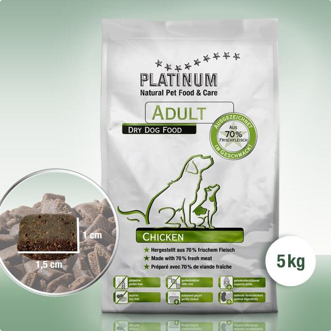 Crocchette Platinum adult chicken senza glutine