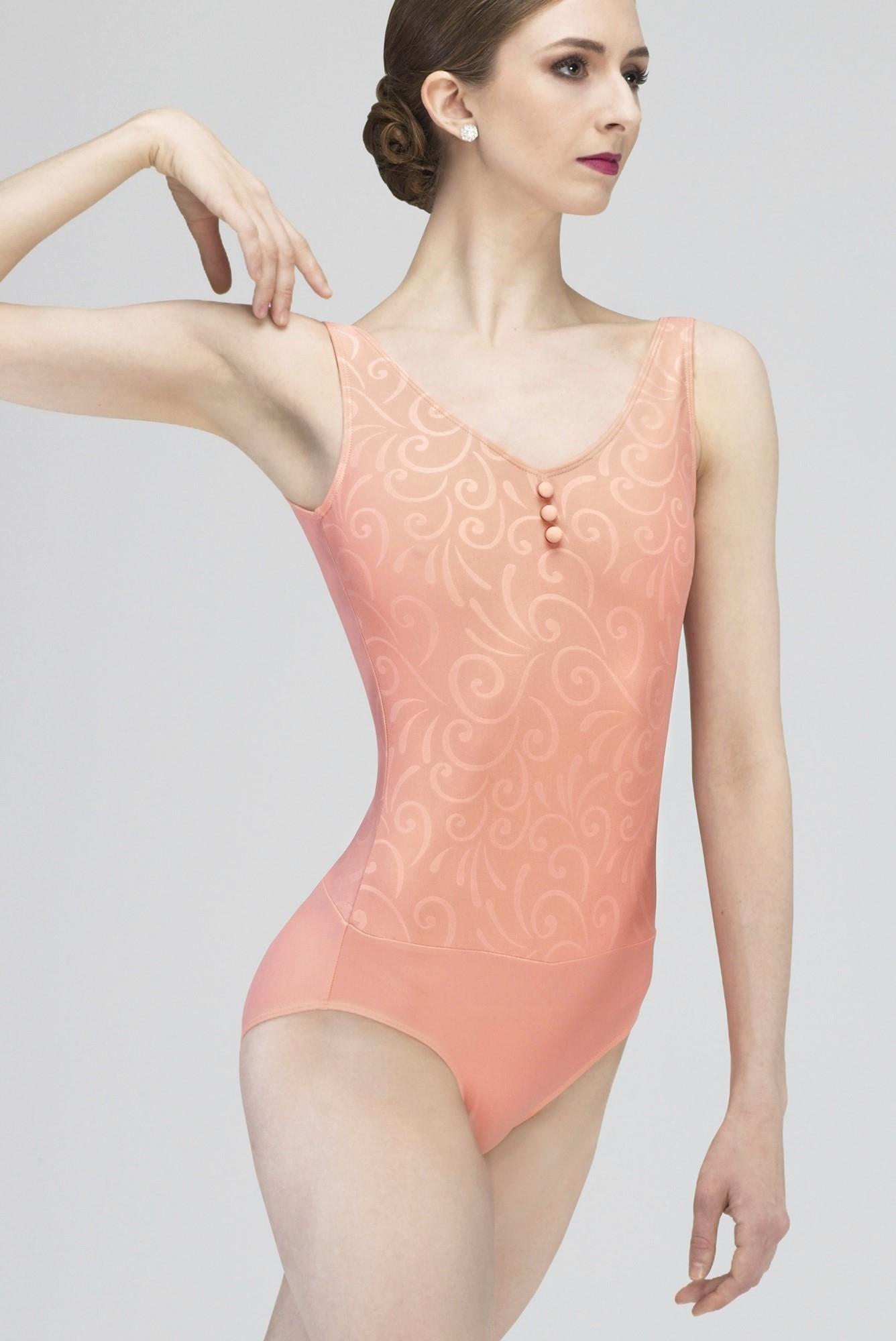 Incas il body WearMoi in microfibra con motivi floreali trasparenti e con profondissimo scollo a V dietro e con linea a V anche  davanti
