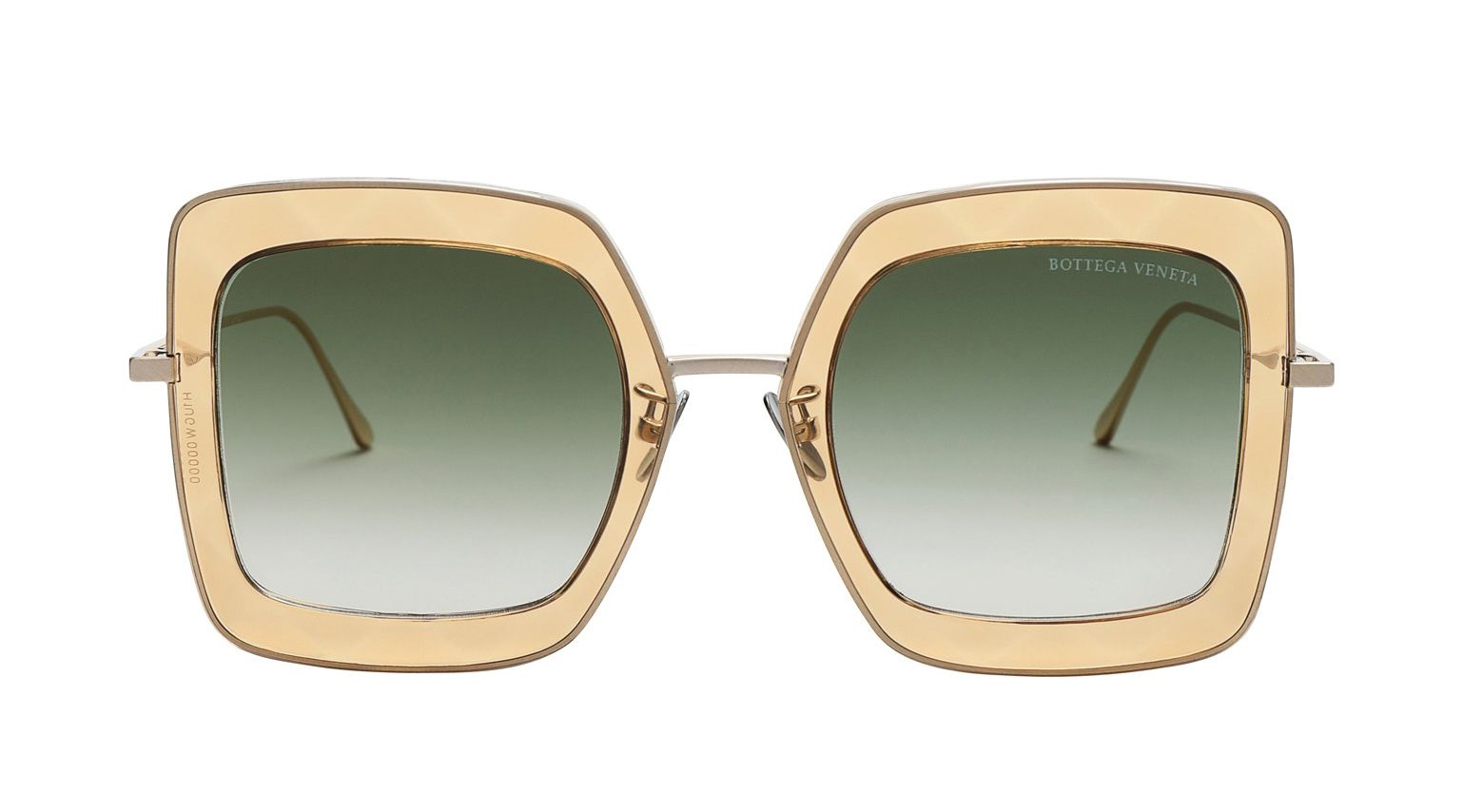 Bottega Veneta - Occhiale da Sole Donna, Gold/Green Shaded  BV0209S-004  C51