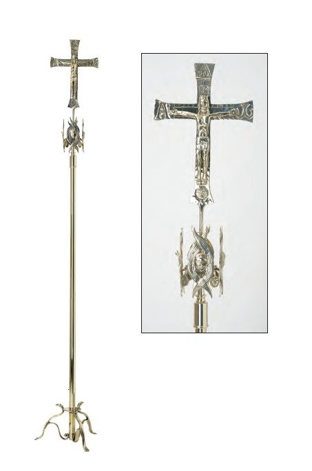 Croce Neocatecumenale MERKABÀ in ottone argentato
