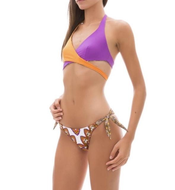 Bikini fascia e slip nodi Color Art Changit