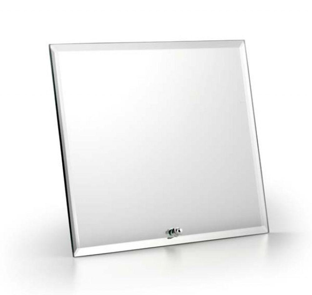 Specchio rettangolare con supporto orizzontale