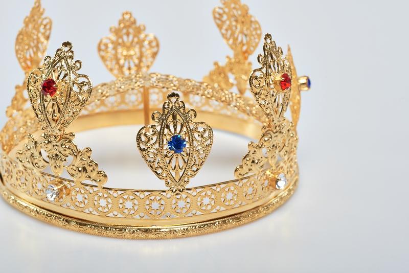 Corona Ducale Ø 12 in ottone dorato 24k