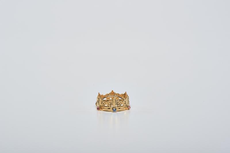 Minicorona Reale Ø 5 in ottone dorato 24k