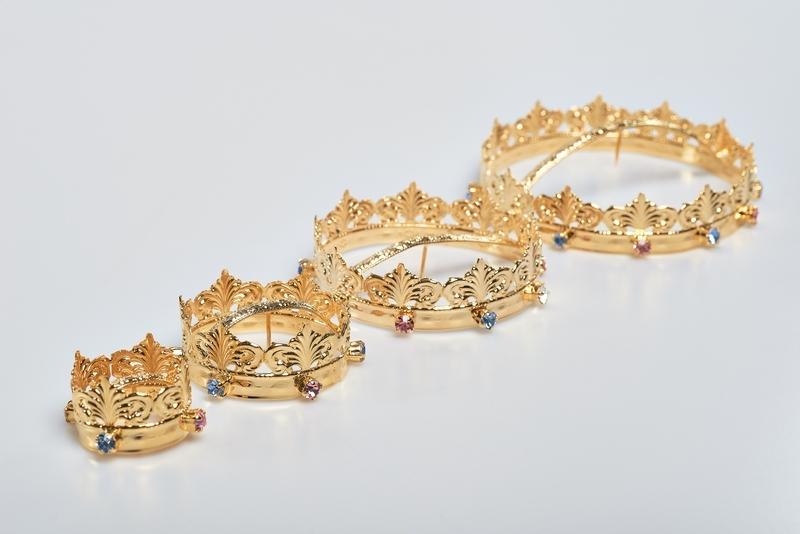 Minicorona Reale Ø 3 in ottone dorato 24k