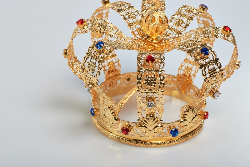 Corona Imperiale Ø 12 in ottone dorato 24k