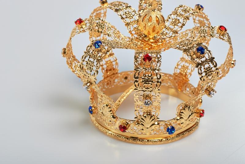 Corona Imperiale Ø 10 in ottone dorato 24k