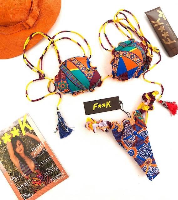 Bikini triangolo frou frou e slip fianco brasiliana ridotta Papunya Effek