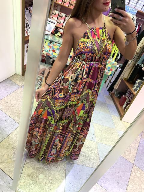 Vestito frappa lungo Papunya effek