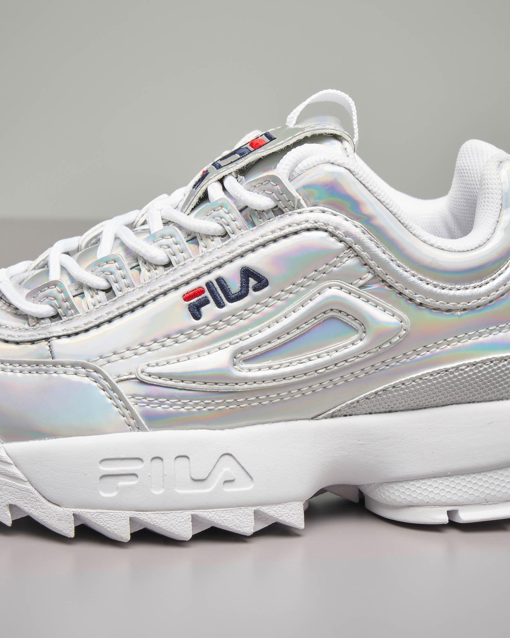 Sneakers Disruptor argento 30-35   Pellizzari E-commerce