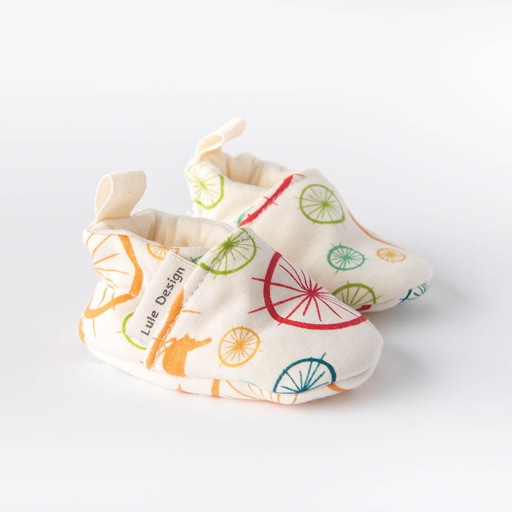 Scarpine neonato uccellini in cotone biologico