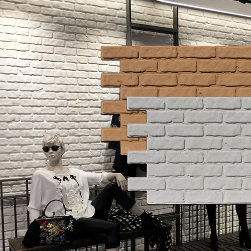 Faux decorative brick wall panels