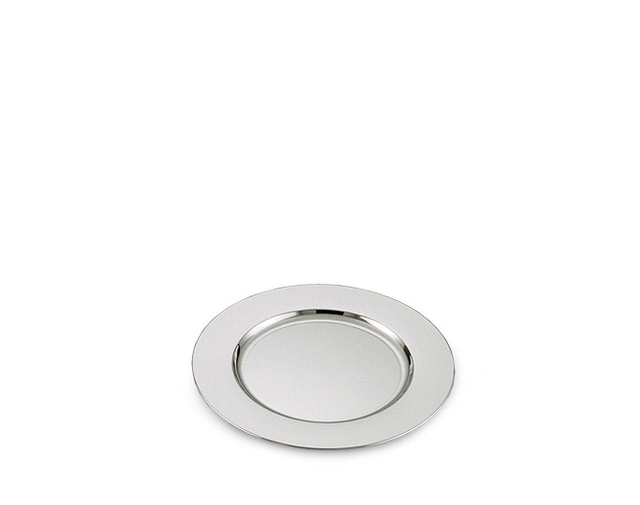 Piattino tondo in metallo placcato argento cm.diam.12