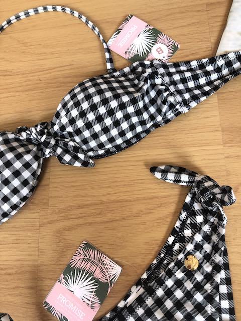 Bikini quadri Vichy fascia Promise