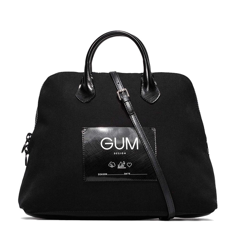 Borsa a mano media canvas nera - GUM Design