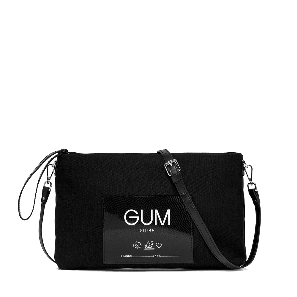 Pochette Canvas Medium Nera - GUM Design