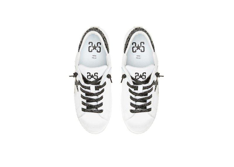 Sneakers donna 2star low bianco/nero/oro