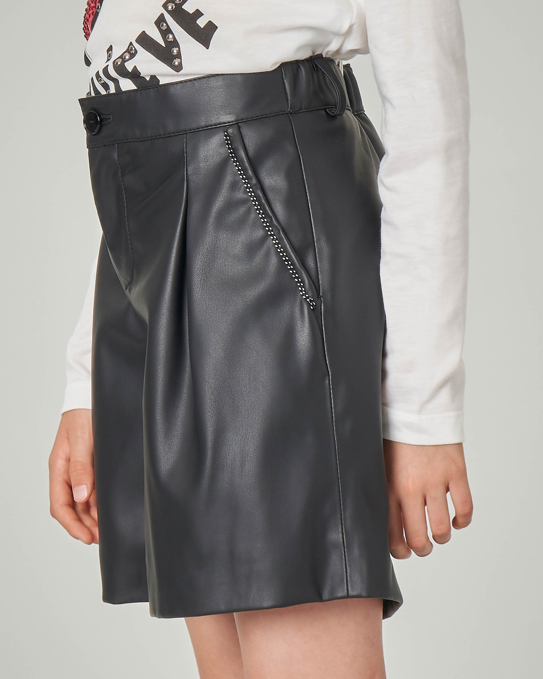newest cf525 a0055 Gonna nera a pantalone in ecopelle S-XL | Pellizzari E-commerce