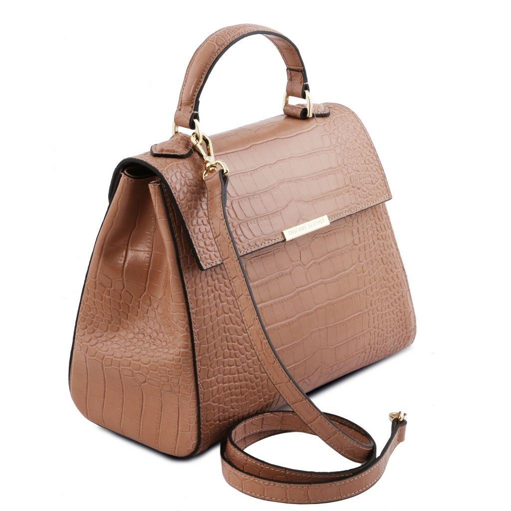 TL Bag Leather Clutch Handbag Nude TL141584