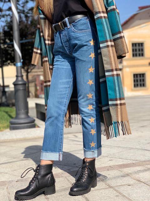 Jeans Levi's Vicolo banda stelle