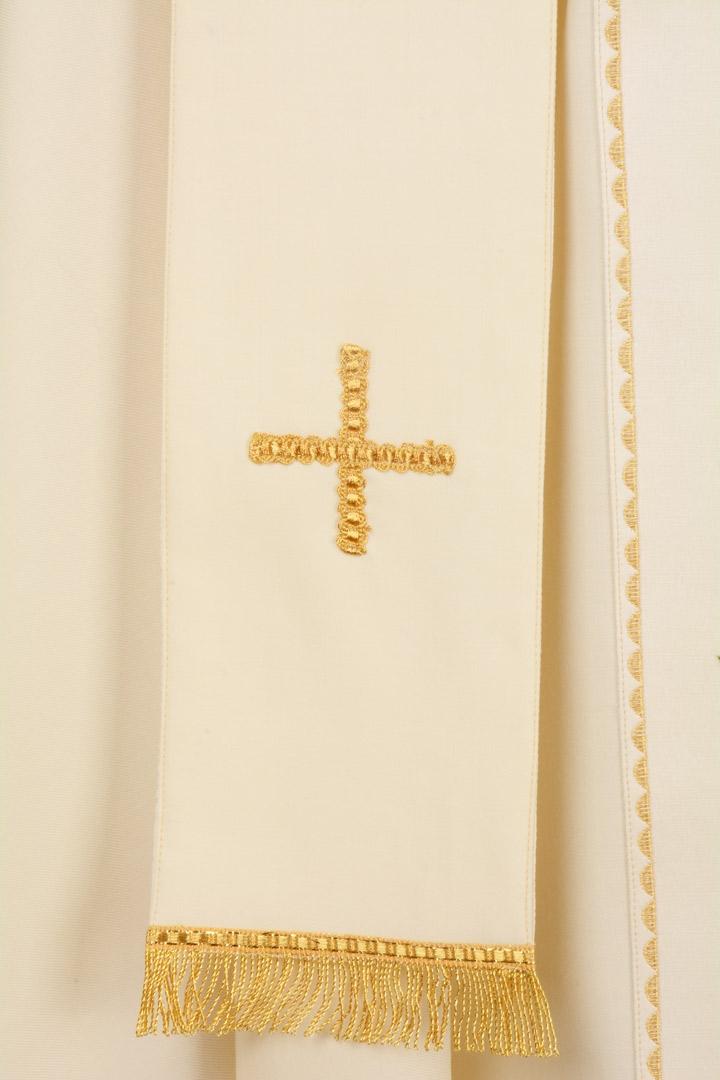 Casula C78 Bianca - Sallia di pura lana