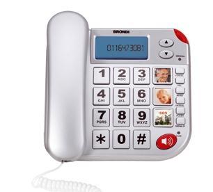 Brondi Super Bravo Plus Telefono analogico Identificatore di chiamata Bianco