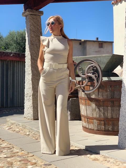 Pantalone Donna a palazzo con cintura Kontatto