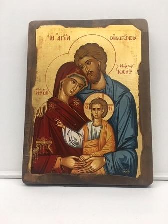 Icona greca Sacra Famiglia serigrafata