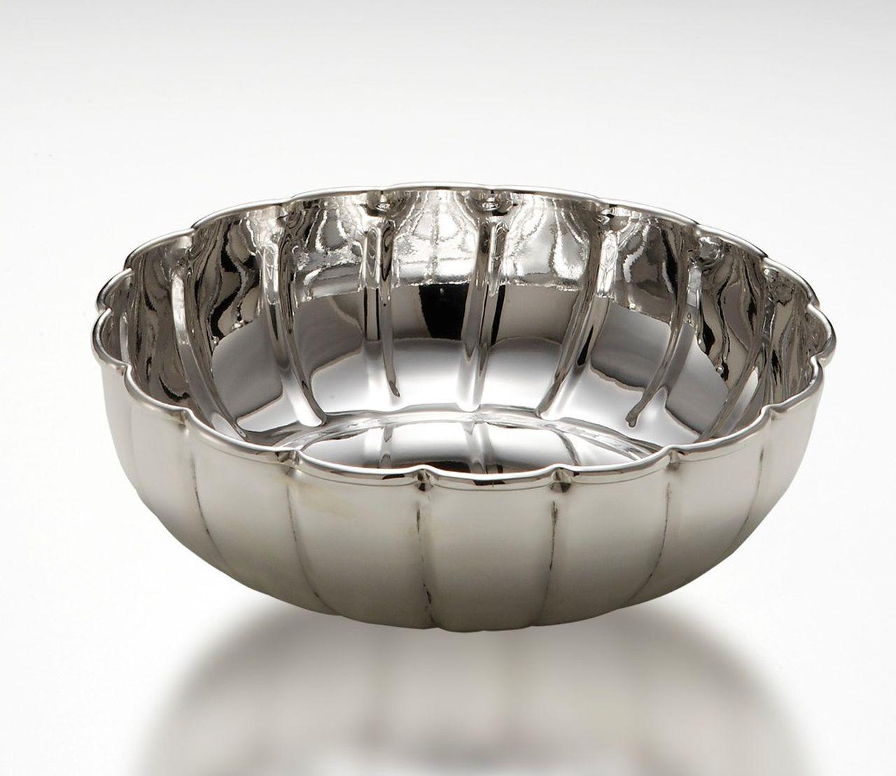 Ciotola tonda benedetta argentato argento sheffield