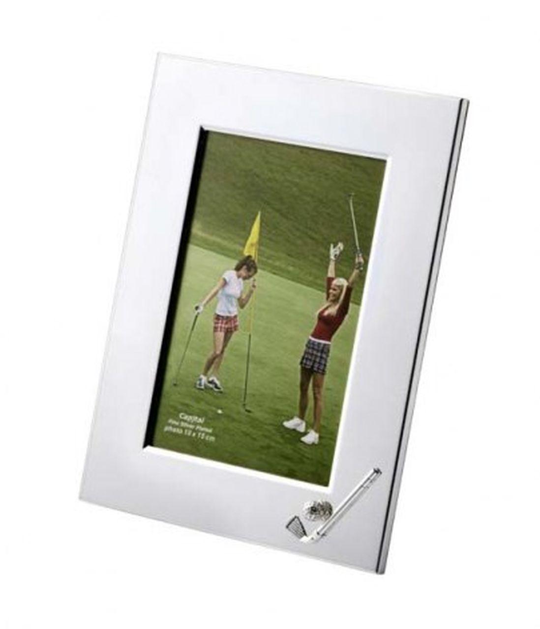 Portafoto golf in silver plated cm.20x15