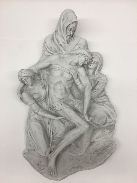 Placca Pietà in Biscuit di Porcellana