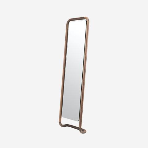 Specchio con cornice in legno Malin