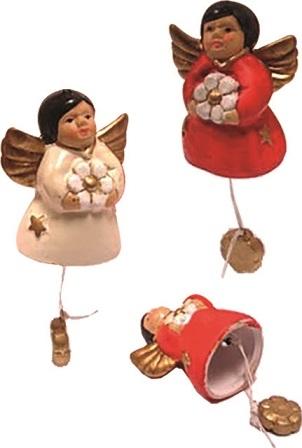Angioletto campanella colorato cm. 7 confezione intera 15 pezzi