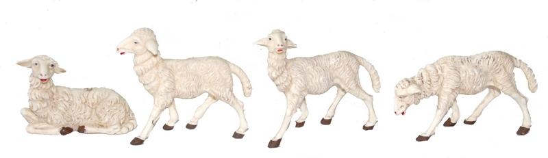 Busta 4 pecore patinate cm. 20